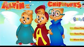Гонка Бурундуков. Мультик игра. Race Chipmunks. Kids games. Элвин и Бурундуки.
