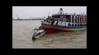 Boat accident in river  live and real video
