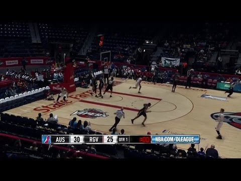 Tony Bishop posts 17 points & 10 rebounds vs. the Spurs, 3/28/2015