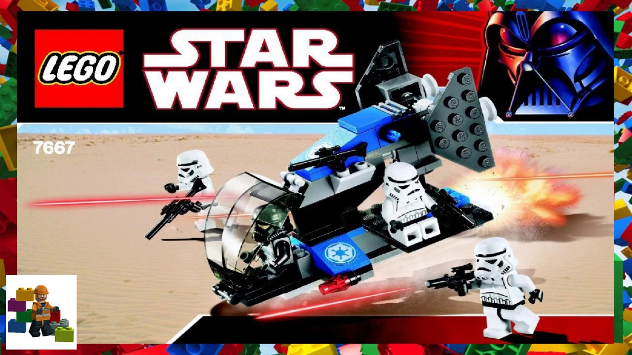 Lego Instructions Star Wars 7667 Imperial Dropship Youtube