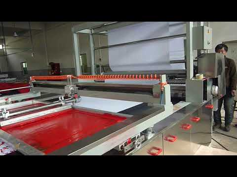 SPD 4 Colors Automatic Flat Belt Screen Printing Machine With Dryer Tunnel