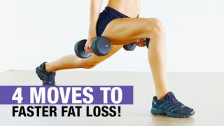 Lose Leg and Thigh Fat Faster (4 QUICK MOVES!)