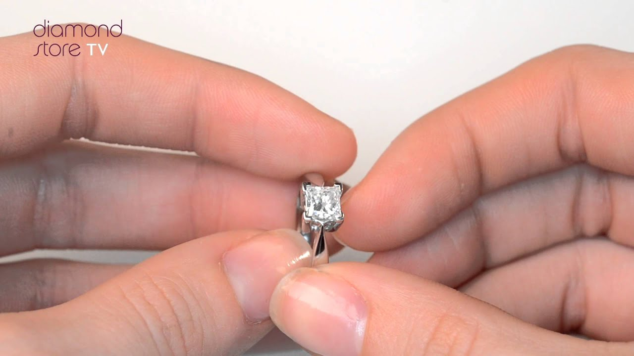 Lauren Platinum 0.75ct Diamond Engagement Ring - UT21 97 - YouTube