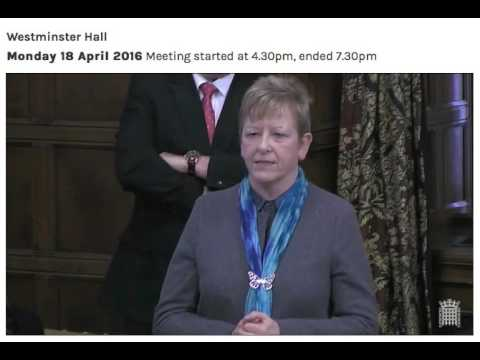 Brain Tumour Research Debate in Parliament  - Helen Jones  - Chair Select Petitions Committee