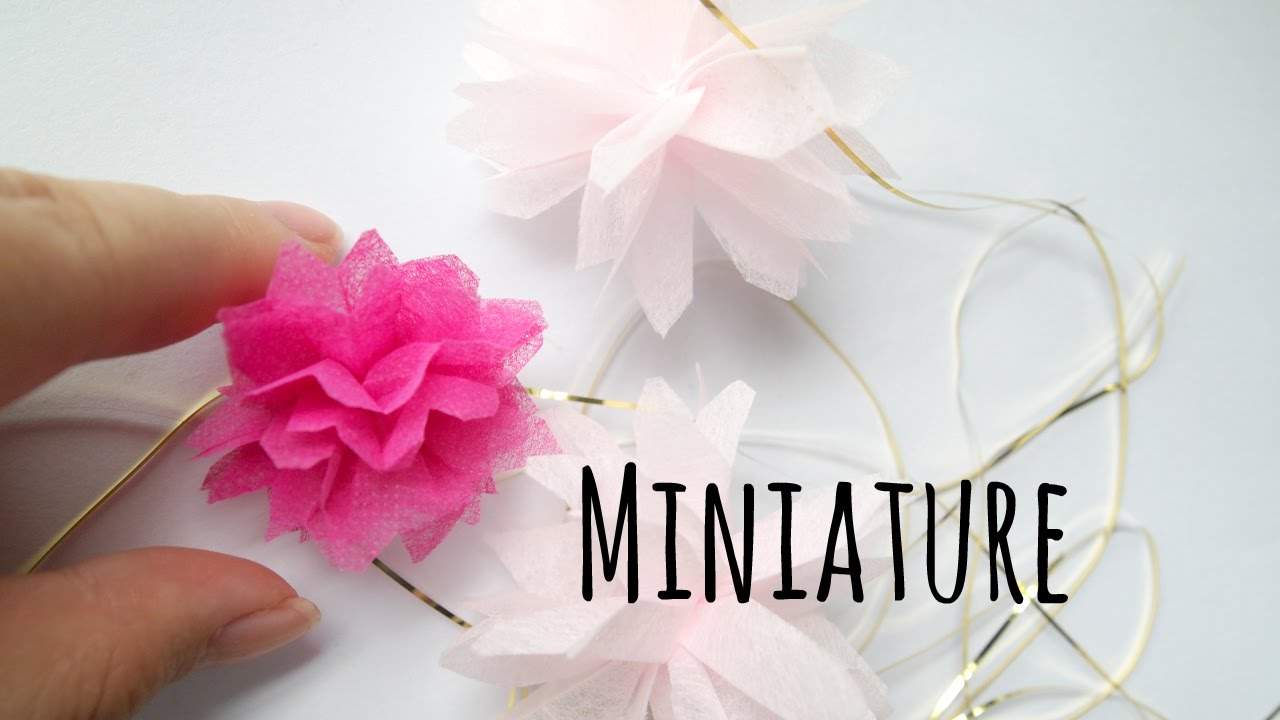 How To Make Miniature Party Tissue Pom Pom For Your Dollhouse