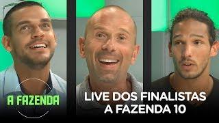 A FAZENDA 10 | Rafael Ilha, João Zoli e Caíque Aguiar participam da live dos finalistas