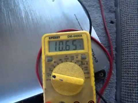 92' Isuzu Rodeo voltage test factory alternator