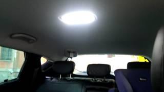 Замена освещения в салоне Hyunday IX35 на светодиодное