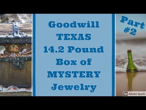TEXAS Goodwill 14.2 Pound Box Of MYSTERY Jewelry Part #2 Unboxing Unjarring Unpacking Silver? Gold?