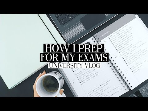 HOW I PREP FOR MY EXAMS! UNIVERSITY STUDY WITH ME VLOG | Caitlin Rose