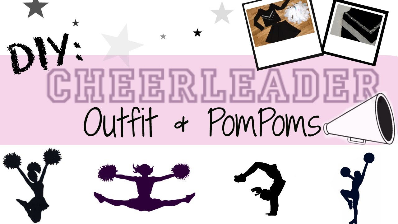 Diy cheerleading outfit pompoms youtube solutioingenieria Images