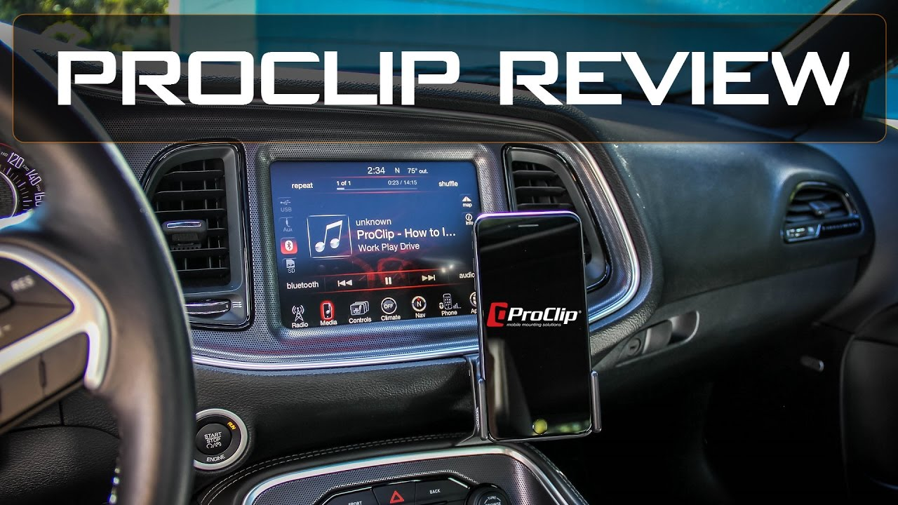 Proclip Review Dodge Challenger With Samsung S7 Edge And