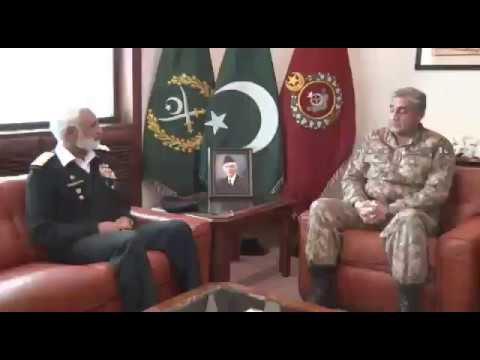 Admiral Muhammad ZakaUllah, Chief of the Naval Staff called on Chief of Ar