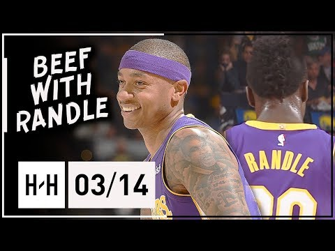 Isaiah Thomas Full Highlights Lakers vs Warriors (2018.03.14) - 20 Pts, Beef with Randle!