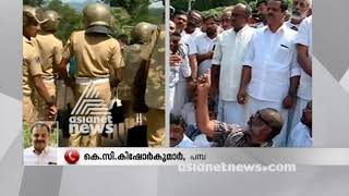 UDF Protest at Nilakkal