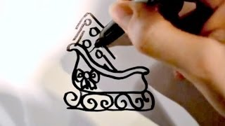 How to Draw a Cartoon Sleigh