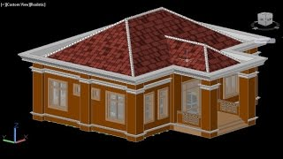 Video tutorial of house installation in Auto CAD 3D finish