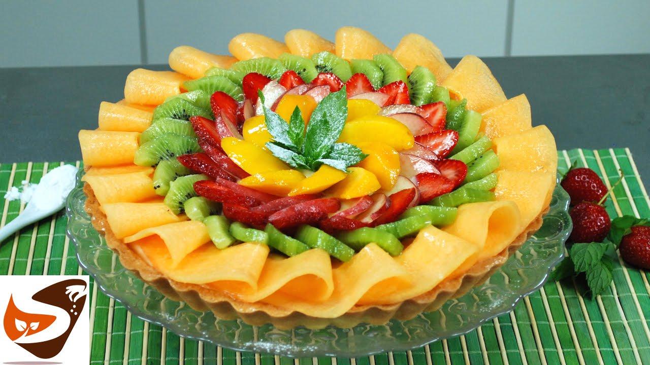 Crostata di frutta con guscio friabile di pasta frolla e for Frutta con la o iniziale