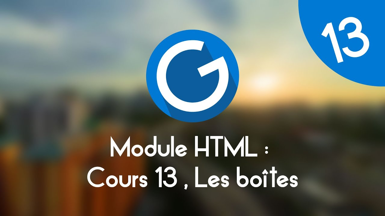 Download Formation IMM - Module HTML : Cours tuto 13 , les boites