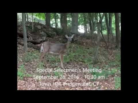 09/28/2016 Bridgewater, CT Special Selectmen's Meeting (Audio)
