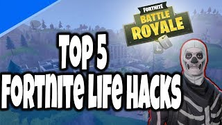 Top 5 Fortnite: Battle Royale life hacks to get victory royale 😱😍 | Gulfam Tech