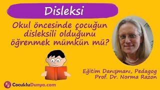 Okul öncesinde çocuğun disleksili olduğunu öğrenmek mümkün mü? #disleksi