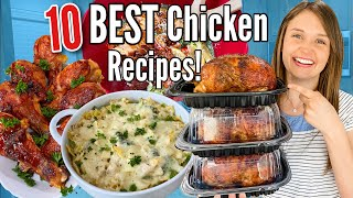 Top 10 Of The BEST EASY Chicken Recipes Tasty Weeknight Dinners ANYONE CAN MAKE Julia Pacheco