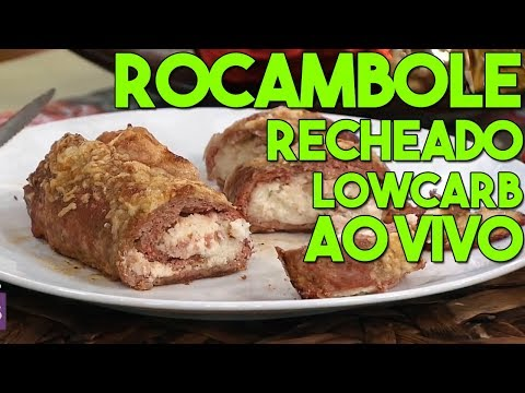 Rocambole Recheado LowCarb e ao Vivo na TV Gazeta #59