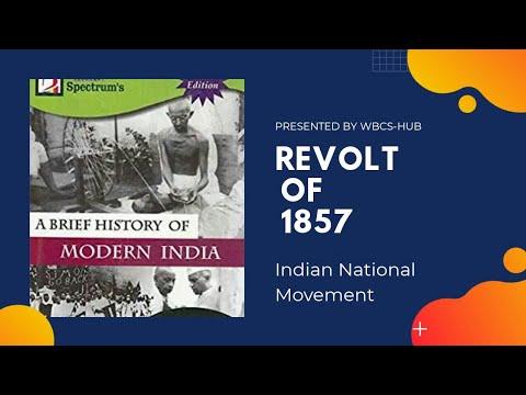 Revolt Of 1857/Indian National Movement /Target WBCS  2021