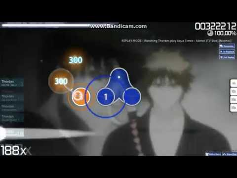 Aqua Timez  Alones TV Size Normal Osu! #5