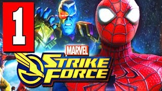 MARVEL STRIKE FORCE Gameplay Walkthrough Part 1 Lets Play FULL GAME (iOS / Android)