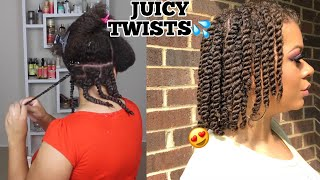 How To Twists Natural Hair Properly As A Protective Style - No Added Hair Needed!