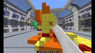 Build Batle - Небоскрёб,Яблоко [MiniGames][TeslaCraft]