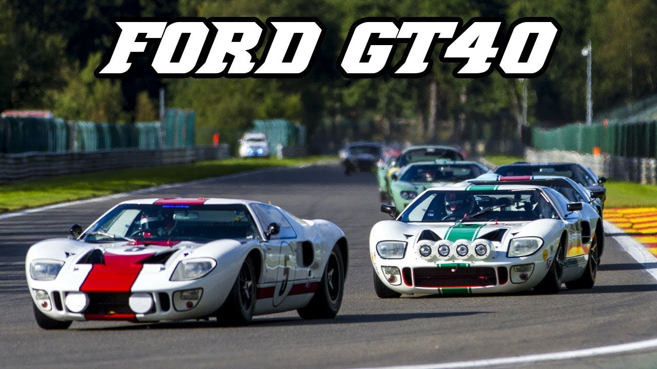 16x ford gt40 racing at spa 2017 youtube. Black Bedroom Furniture Sets. Home Design Ideas