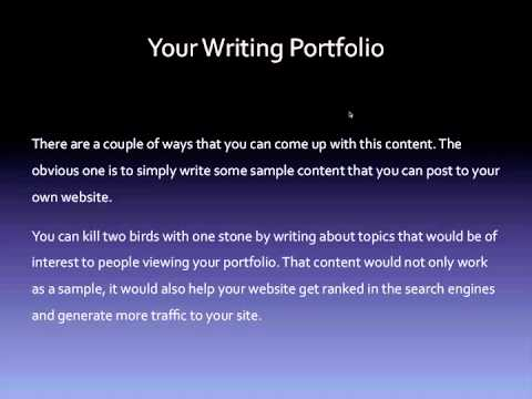 Writing how to create a writing portfolio youtube writing how to create a writing portfolio thecheapjerseys Image collections