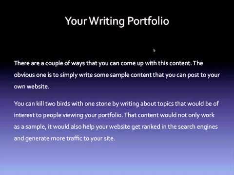 Writing how to create a writing portfolio youtube writing how to create a writing portfolio thecheapjerseys Choice Image