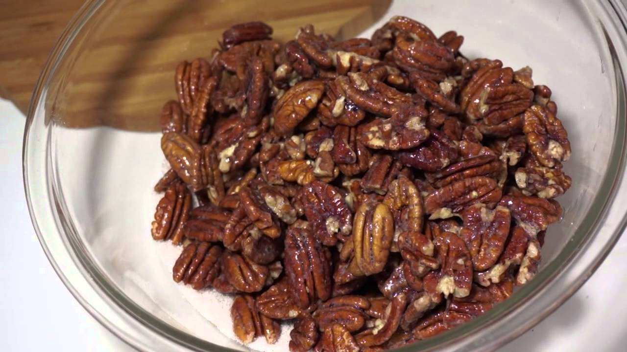 Sugar coated Pecans - YouTube