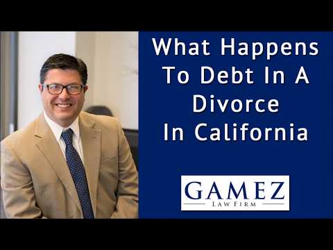 What Happens To Debt In A Divorce In California
