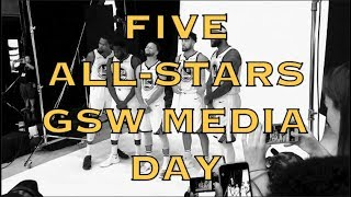 All five All-Stars pose for Golden State Warriors Media Day photos