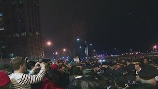 Tense moments during protests in Chicago