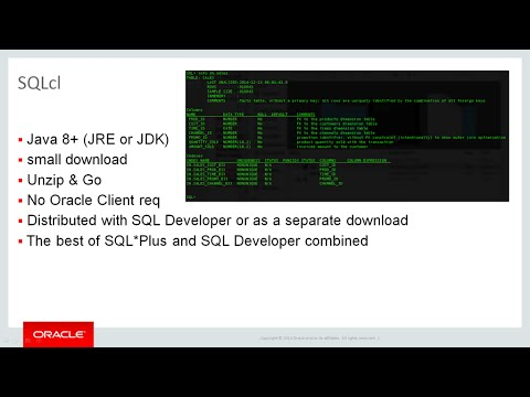 Oracle SQLcl
