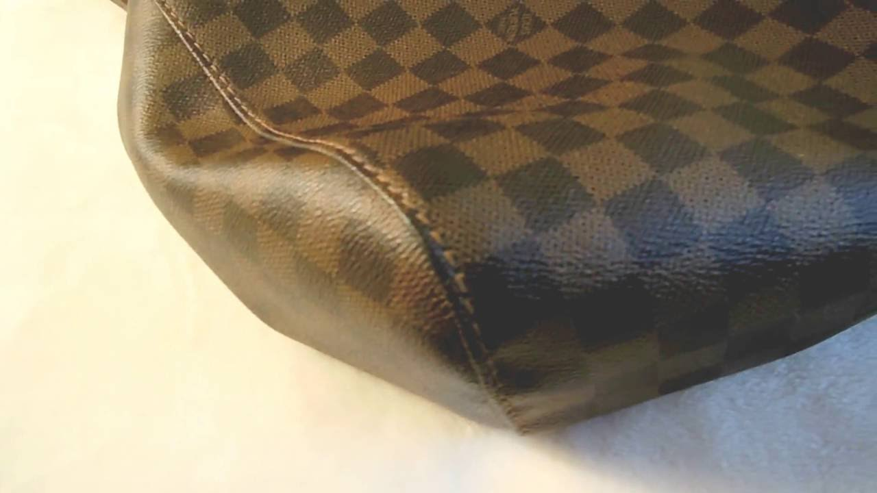 bdc08195c7ed Authentic Louis Vuitton Damier Ebene Portobello GM - YouTube