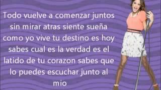 Hoy Somos Mas-Violetta Martina Stoessel (Tini Stoessel).Letra (Sin Musica)