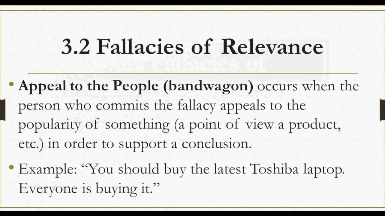 3 2 fallacies of relevance part 1