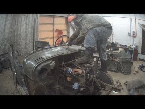 Ремонт кузова уаз 469, восстановление деда.