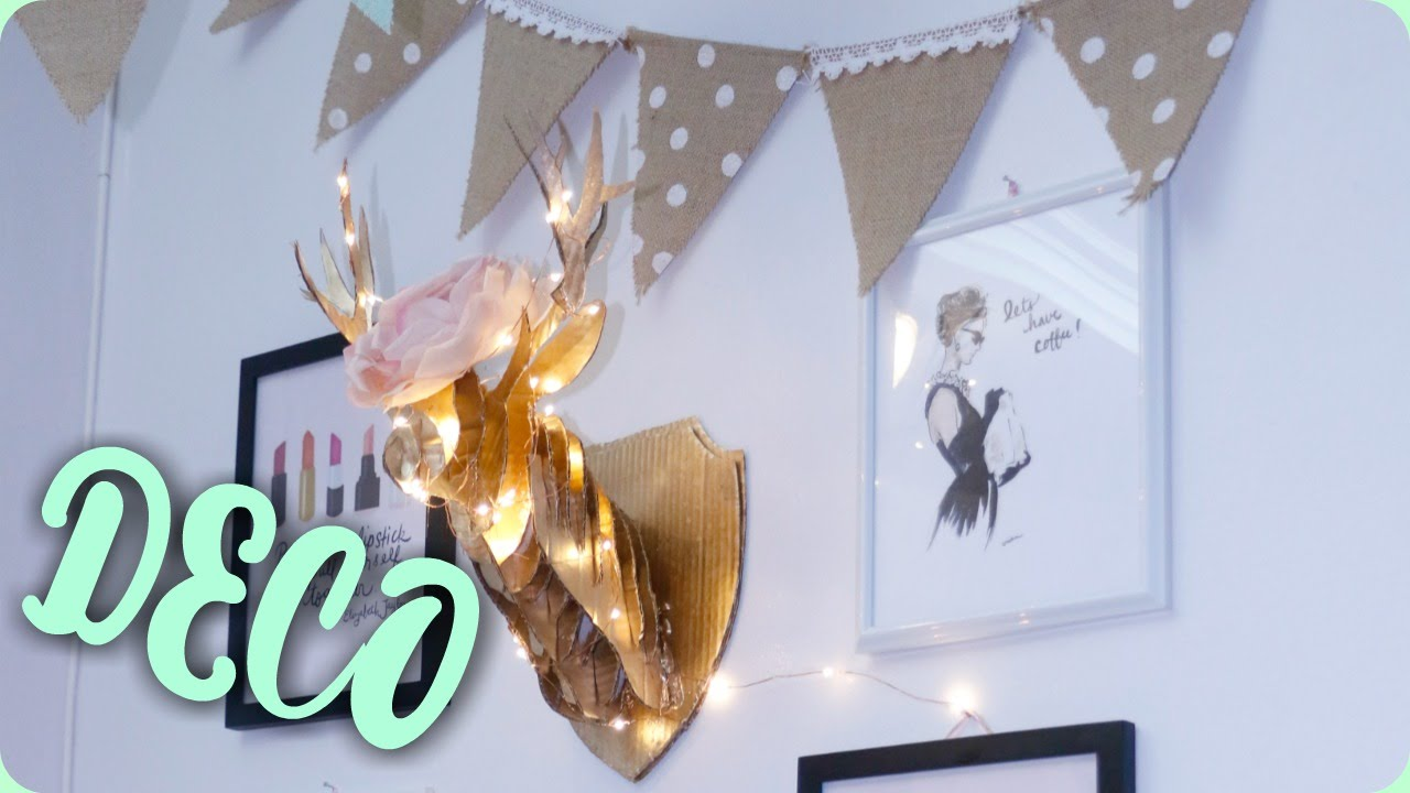 Diy decoracion cabeza de ciervo mi area de trabajo youtube - Cabeza de ciervo decoracion ...