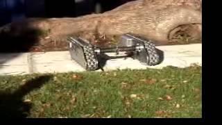 Adruino Autonomous Chain Robot Used For Security Crossing Hurdles