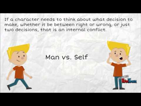 internal and external conflict lesson video youtube