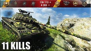 Танк Т-10 лучший бой 🌟 11 фрагов 🌟 карта: Тихий берег. World of Tanks как играют статисты wot