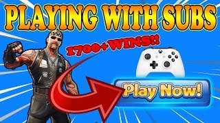 Playing With Subscribers (READ DESCRIPTION) //1700+WINS// Xbox  Fortnite player live